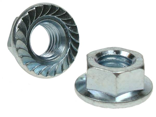 Qty 50 Stainless Steel Hex Flange Nut Serrated UNC #6-32